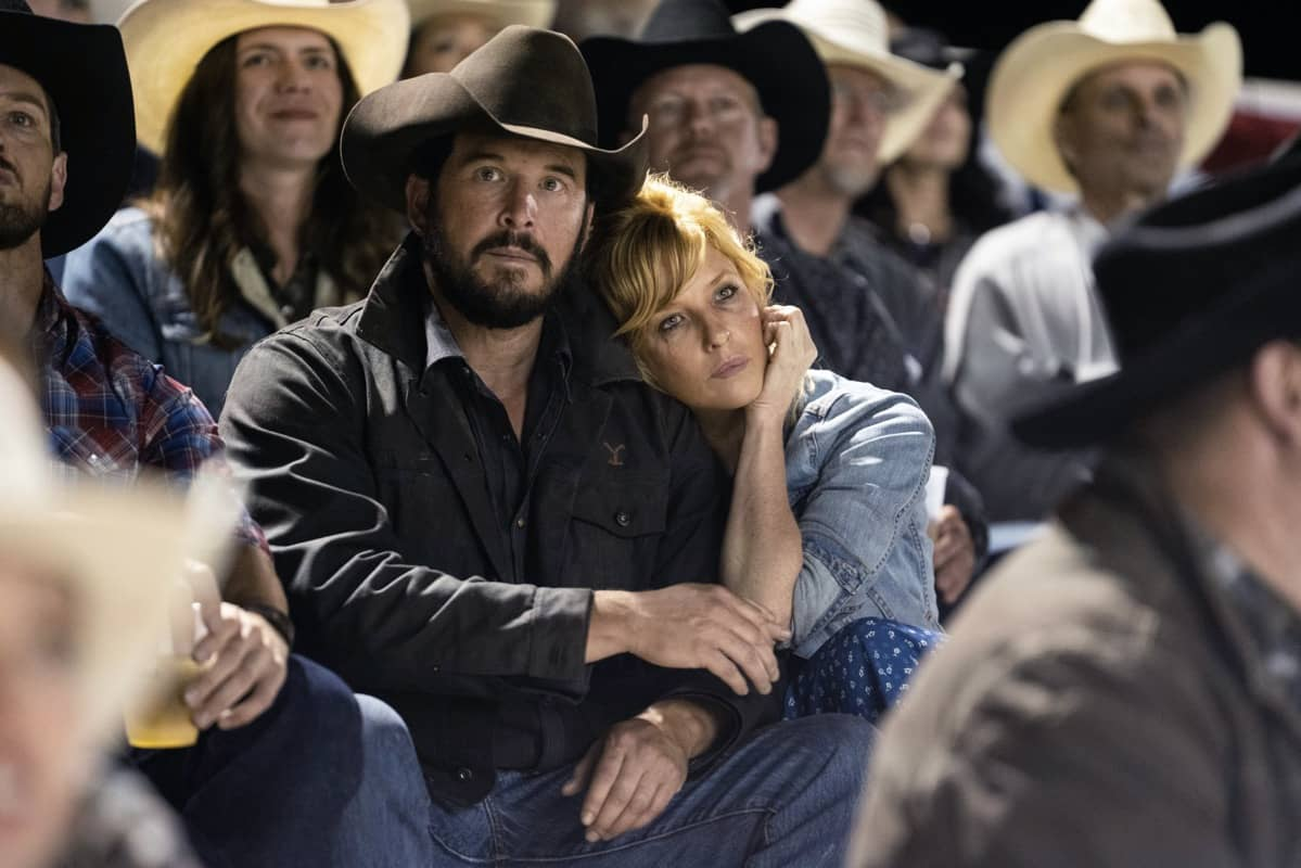 """(L-R) Cole Hauser as Rip Wheeler and Kelly Reilly as Beth Dutton. Episode 3 of Yellowstone - """"An Acceptable Surrender"""" premieres Sunday, July 5 at 9 P.M. ET/PT on Paramount Network."""