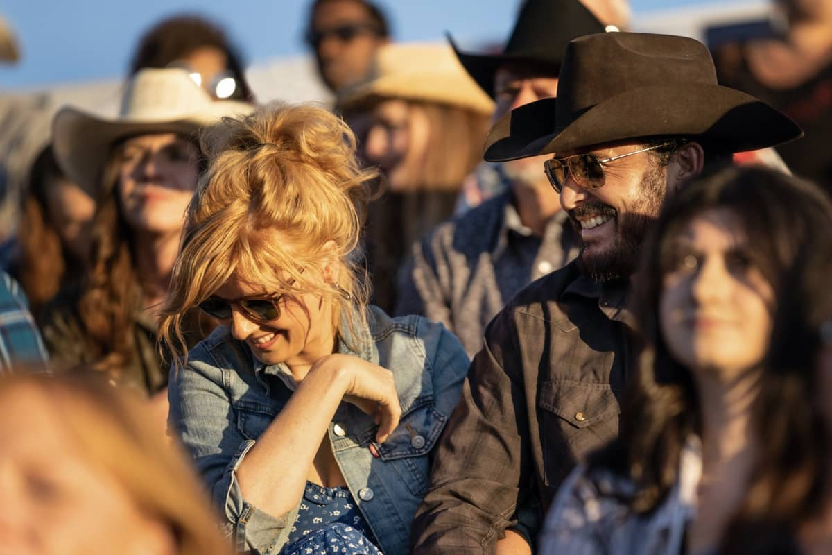 """(L-R) Kelly Reilly as Beth Dutton and Cole Hauser as Rip Wheeler. Episode 3 of Yellowstone - """"An Acceptable Surrender"""" premieres Sunday, July 5 at 9 P.M. ET/PT on Paramount Network."""