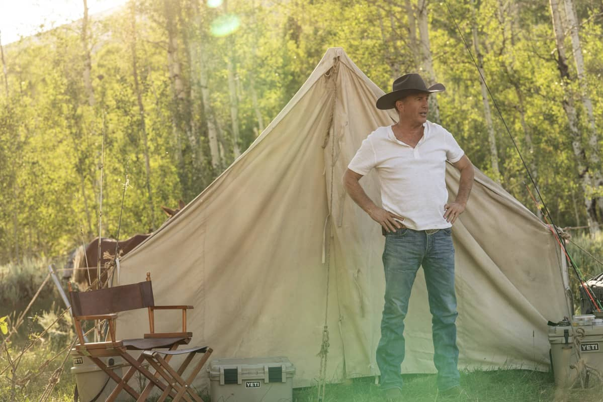 "Kevin Costner as John Dutton. Episode 4 of Yellowstone- ""Going Back to Cali"" premieres July 12 at 9 P.M. ET/PT on Paramount Network."