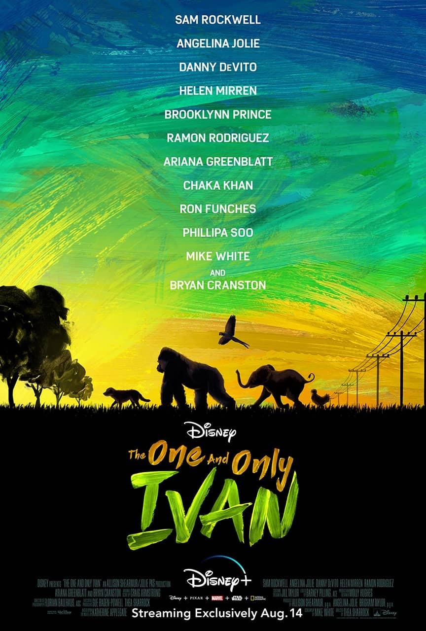 The One And Only Ivan Movie Poster Disney +