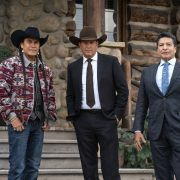 "(L-R) Moses Brings Plenty as Mo, Kevin Coster as John Dutton, and Gil Birmingham as Thomas Rainwater. Episode 5 of Yellowstone - ""Cowboys and Dreamers"" Premieres July 19th at 9 P.M. ET/PT on Paramount Network."
