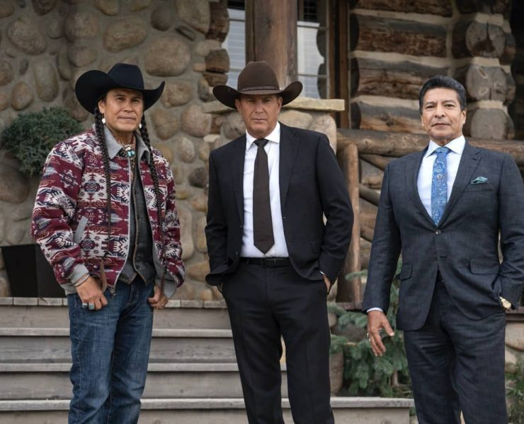 """(L-R) Moses Brings Plenty as Mo, Kevin Coster as John Dutton, and Gil Birmingham as Thomas Rainwater. Episode 5 of Yellowstone - """"Cowboys and Dreamers"""" Premieres July 19th at 9 P.M. ET/PT on Paramount Network."""