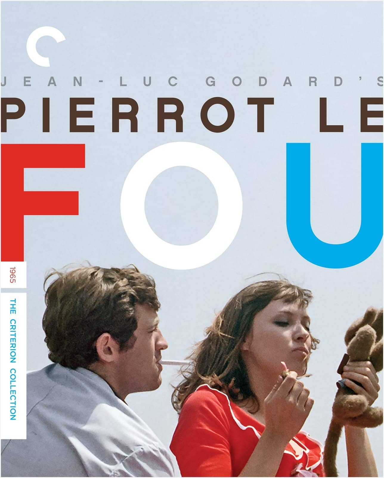 Pierrot le fou Criterion Collection Bluray Cover