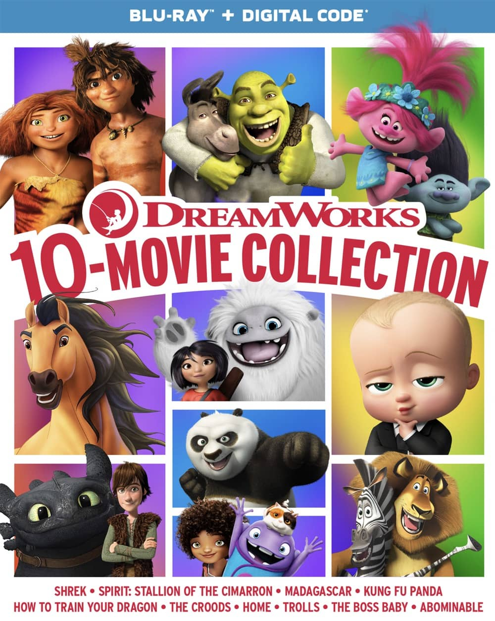 DreamWorks10MovieCollection BD 2D o card