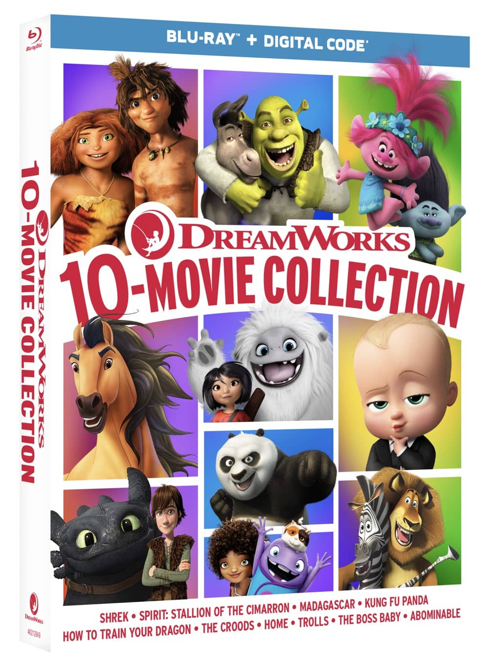 DreamWorks10MovieCollection BD 3D o card