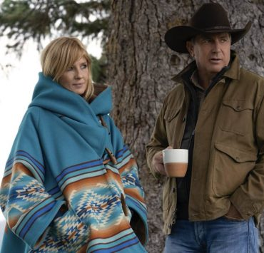 "(L-R) Kelly Reilly as Beth Dutton and Kevin Costner as John Dutton. Episode 6 of Yellowstone - ""All for Nothing"" Premieres July 26th at 9 P.M. ET/PT on Paramount Network."