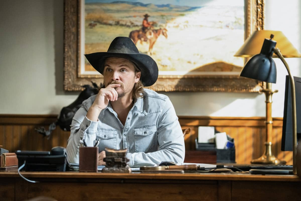 "Luke Grimes as Kayce Dutton. Episode 6 of Yellowstone - ""All for Nothing"" Premieres July 26th at 9 P.M. ET/PT on Paramount Network."