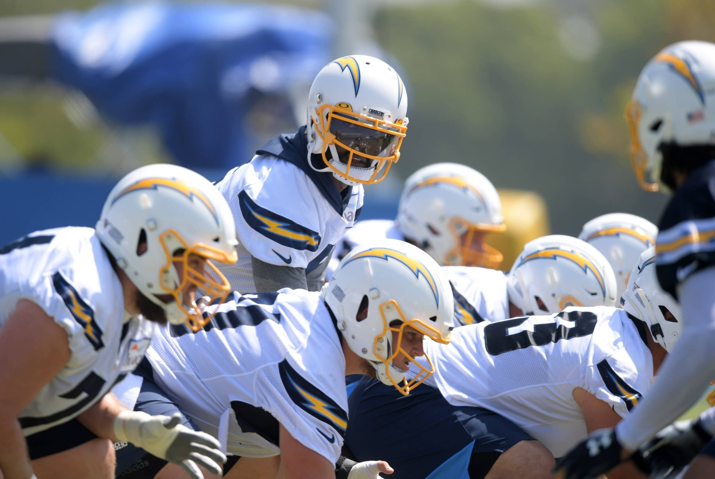 Los Angeles Chargers QB Tyrod Taylor during training camp