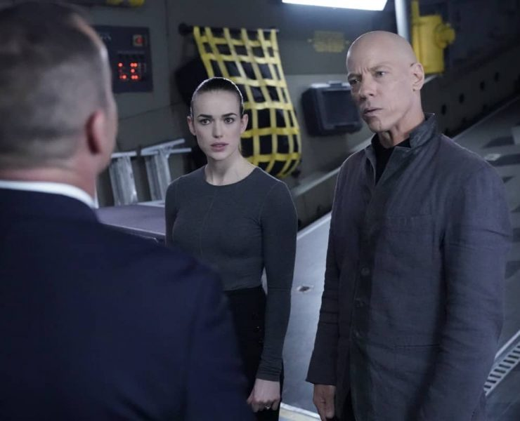 """MARVEL'S AGENTS OF S.H.I.E.L.D. - """"As I Have Always Been"""" - A time storm ravages the Zephyr, propelling it toward destruction while simultaneously forcing Daisy and Coulson to relive their failed attempts to save the team over and over, until they find a solution or are swallowed by the storm. Making it to their next destination will take trust, courage and sacrifice from everyone on board, but it will all come down to having enough time on """"Marvel's Agents of S.H.I.E.L.D.,"""" airing WEDNESDAY, JULY 22 (10:00-11:00 p.m. EDT), on ABC. - (ABC/Mitch Haaseth) ELIZABETH HENSTRIDGE, JOEL STOFFER"""