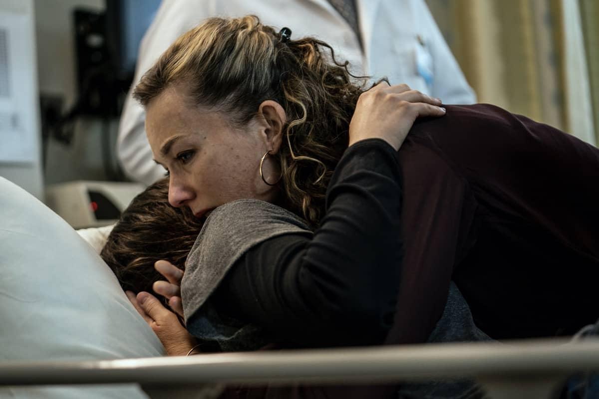 Ashleigh Cummings as Vic McQueen, Virginia Kull as Linda McQueen; group - NOS4A2 _ Season 2, Episode 6 - Photo Credit: Zach Dilgard/AMC