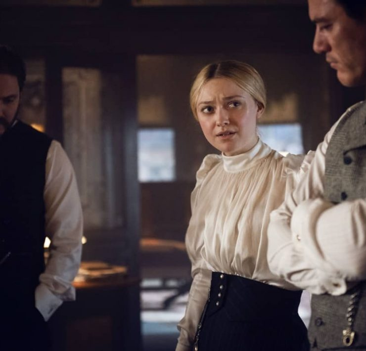 The Alienist Angel Of Darkness Daniel Brühl, Dakota Fanning, Luke Evans Photograph by Kata Vermes / TNT