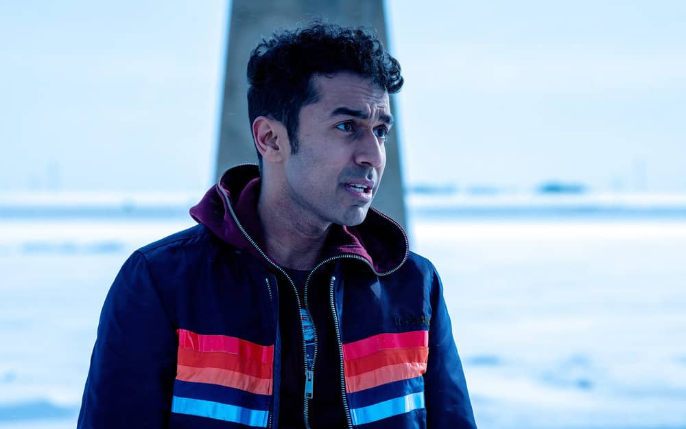"WYNONNA EARP -- ""Friends In Low Places"" Episode 402 -- Pictured: Varun Saranga as Jeremy -- (Photo by: Michelle Faye/Wynonna Earp Productions, Inc./SYFY)"
