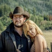 """(L-R) Cole Hauser as Rip Wheeler and Kelly Reilly as Beth Dutton. Episode 7 of Yellowstone - """"The Beating"""" Premieres August 2nd at 9 P.M. ET/PT on Paramount Network."""