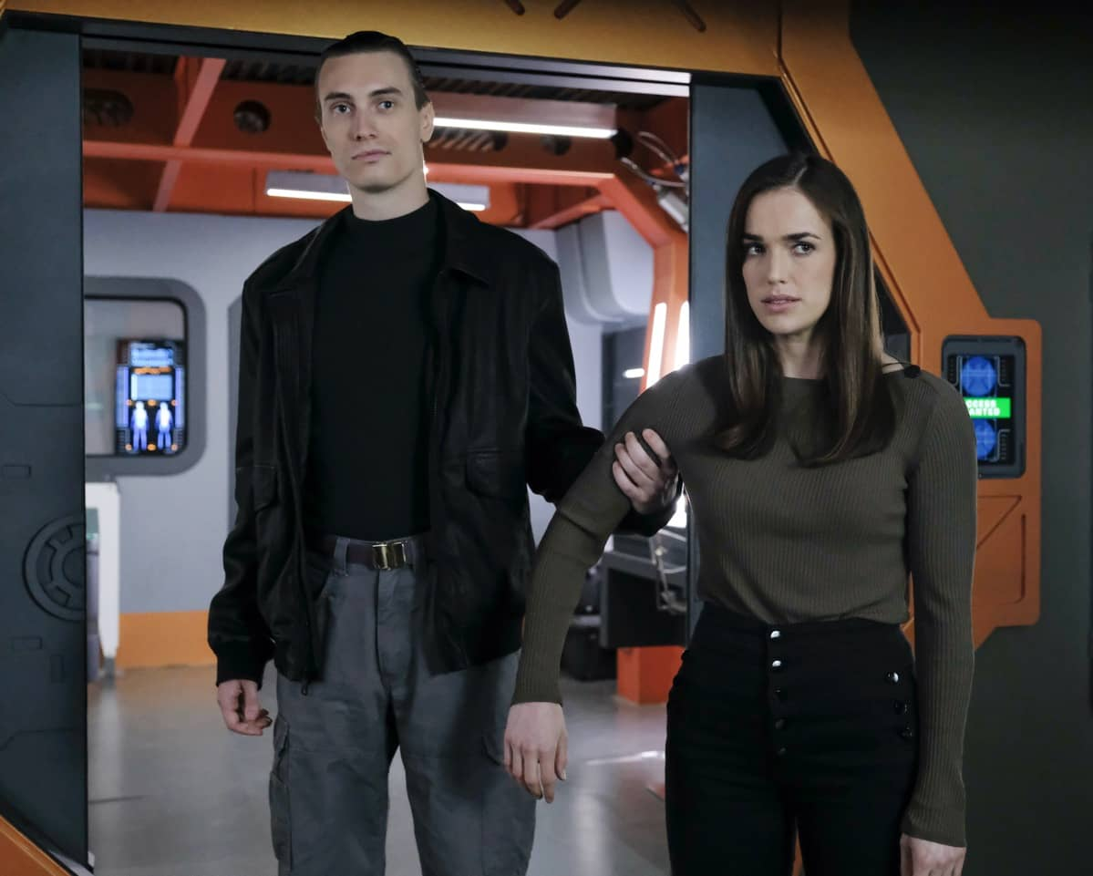 """MARVEL'S AGENTS OF S.H.I.E.L.D. -""""Stolen"""" – After Enoch's sacrifice propelled them out of the time storm, the team arrives back in 1983 where Nathanial and Kora are hard at work building an army of hand-selected anarchist Inhumans at Afterlife. When the agents split up to cover more ground, Daisy is tasked with protecting Jiaying and is compelled to confront her mother for the first time since her death; while the others quickly learn they'll need to face yet another supercharged former enemy in order to stop Malick on """"Marvel's Agents of S.H.I.E.L.D.,"""" airing WEDNESDAY, JULY 29 (10:00–11:00 p.m. EDT), on ABC. - (ABC/Jessica Brooks) ELIZABETH HENSTRIDGE"""