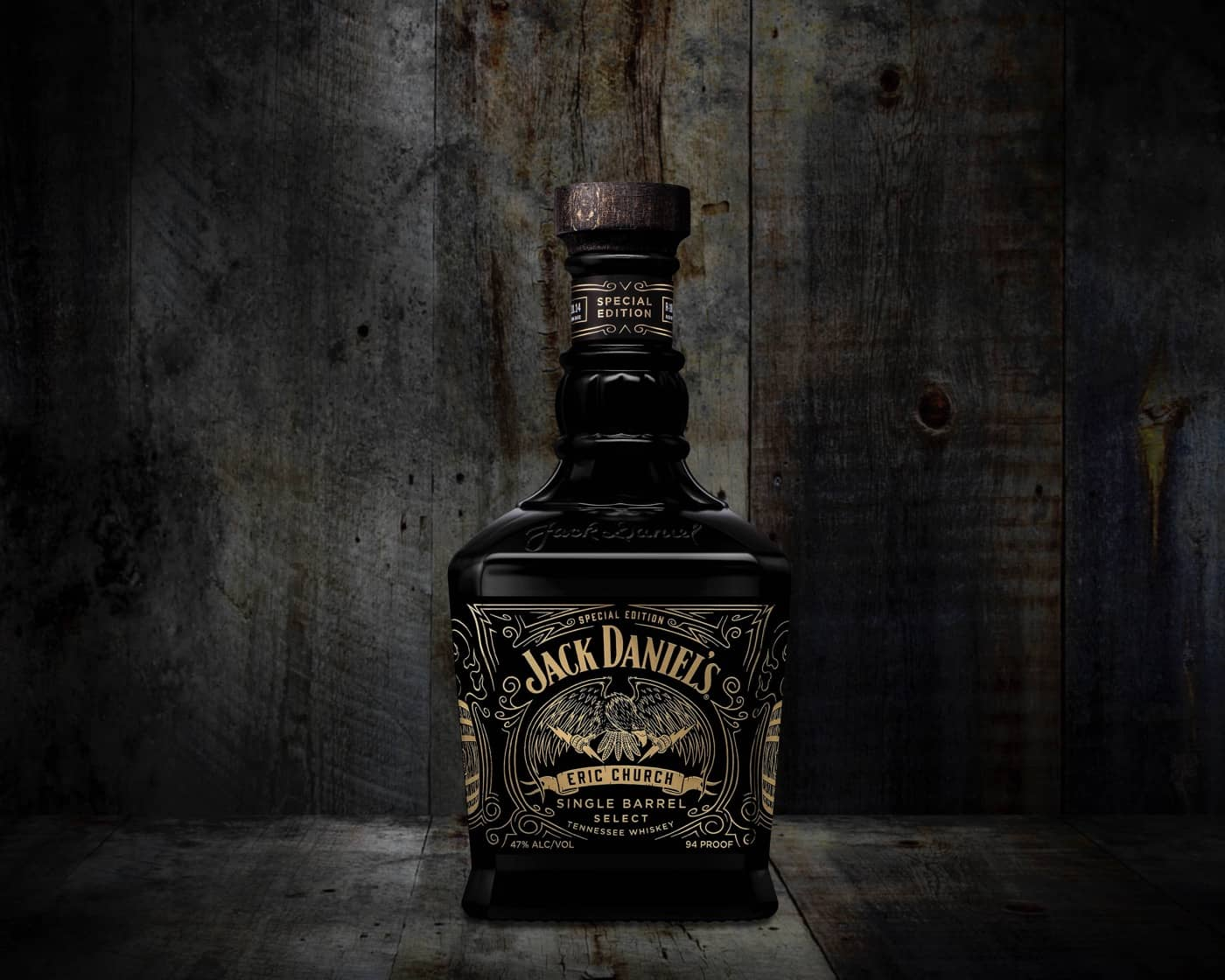 Eric Church Jack Daniels Bottle