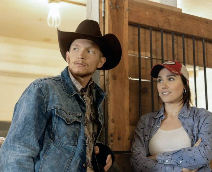 """(L-R) Jefferson White as Jimmy Hurdstrom and Eden Brolin as Mia. Episode 8 of Yellowstone - """"I Killed a Man Today"""" Premieres August 9th at 9 P.M. ET/PT on Paramount Network."""