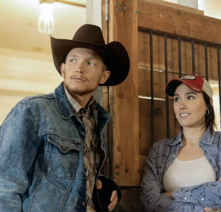 "(L-R) Jefferson White as Jimmy Hurdstrom and Eden Brolin as Mia. Episode 8 of Yellowstone - ""I Killed a Man Today"" Premieres August 9th at 9 P.M. ET/PT on Paramount Network."