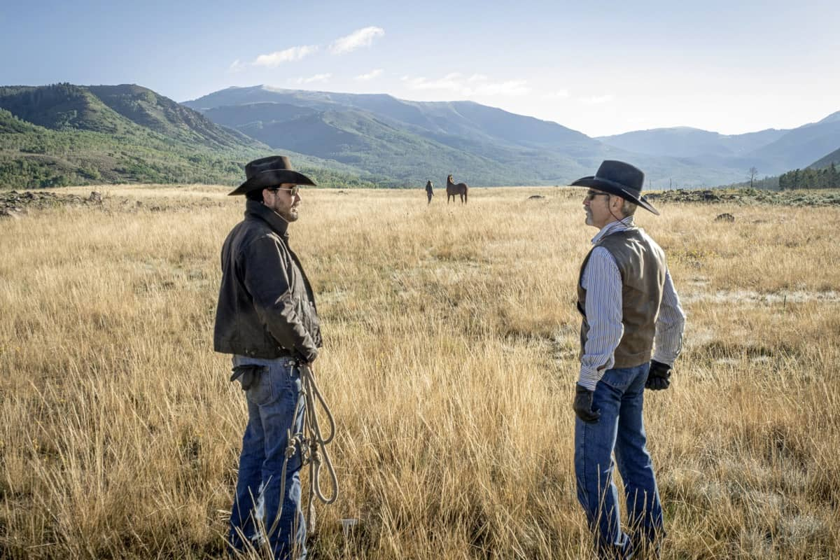 "(L-R) Cole Hauser as Rip Wheeler and Forrie J. Smith as Lloyd. Episode 8 of Yellowstone - ""I Killed a Man Today"" Premieres August 9th at 9 P.M. ET/PT on Paramount Network."