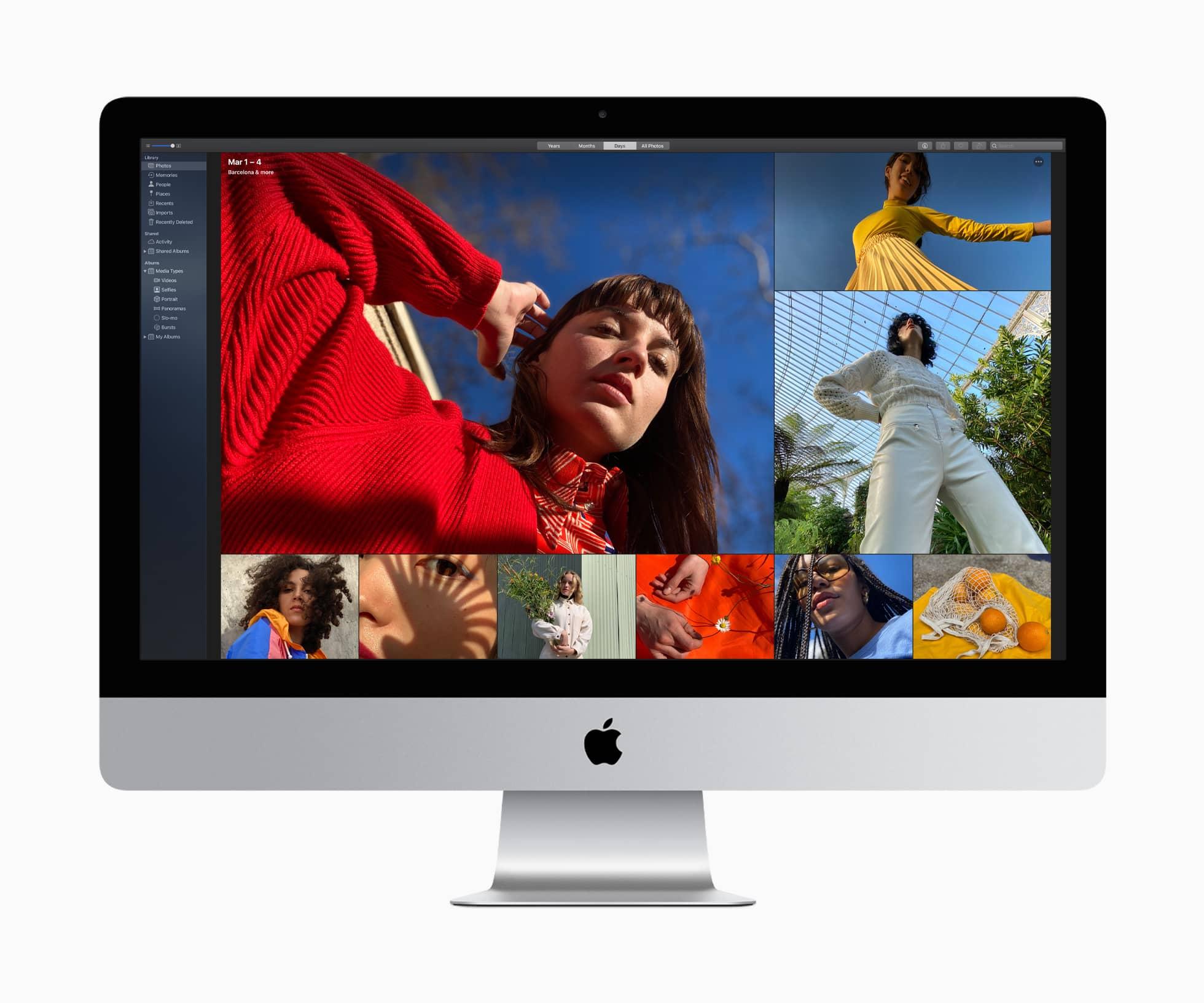Apple imac macos photos days darkmode 08042020