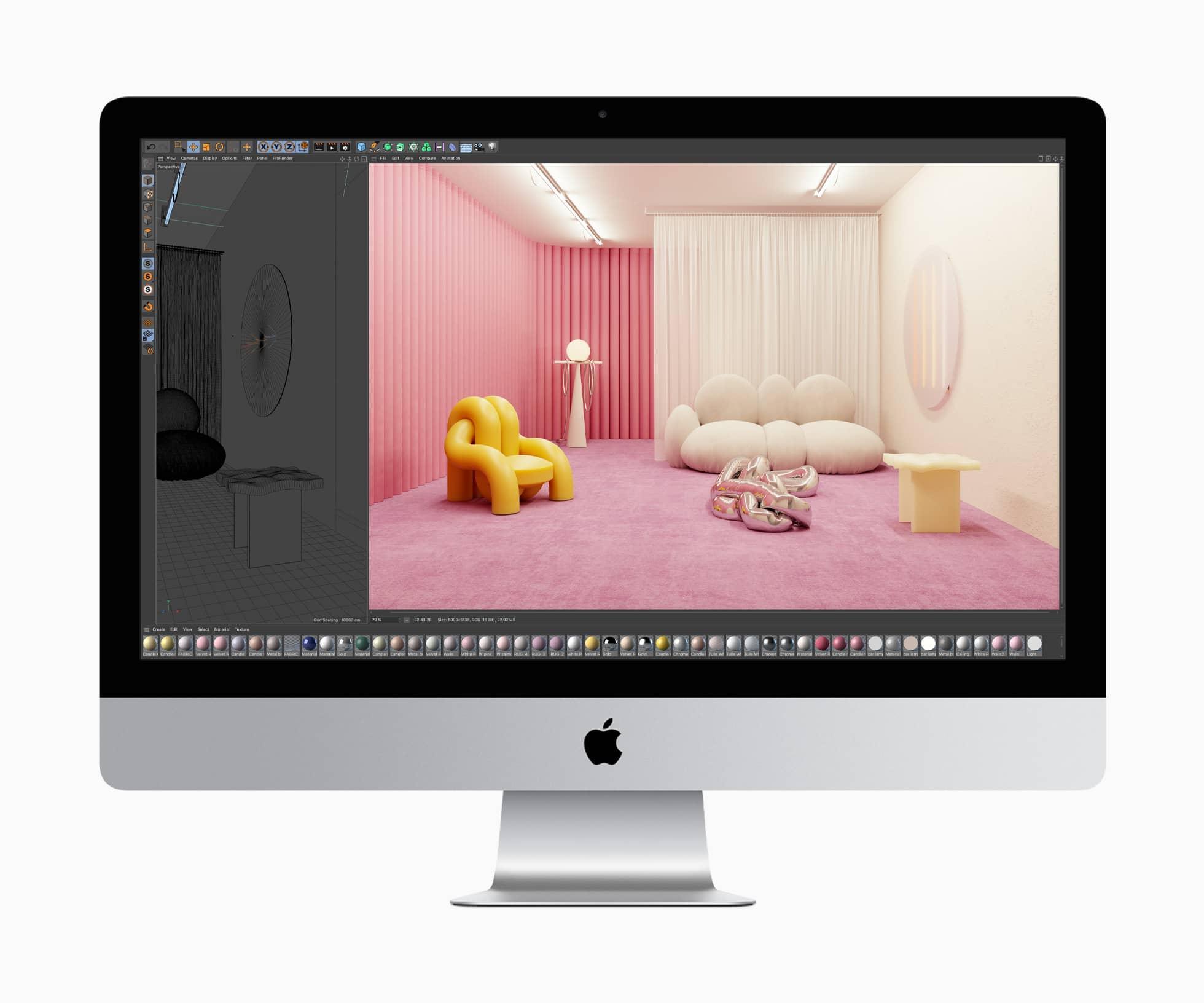 Apple imac macos cinema4d rendering 08042020