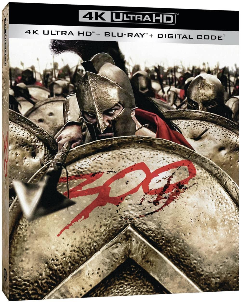 300 4K Ultra HD Box Cover Artwork