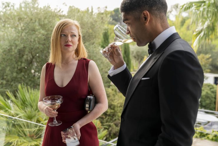 Sarah Snook as Nikki, Kingsley Ben-Adir as Franklin - Soulmates _ Season 1 - Photo Credit: Jorge Alvarino/AMC