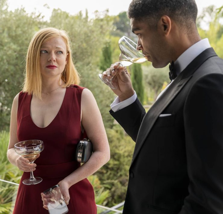 Sarah Snook as Nikki, Kingsley Ben-Adir as Franklin - Soulmates _ Season 1 - Photo Credit: Jorge Alvarino/AMC