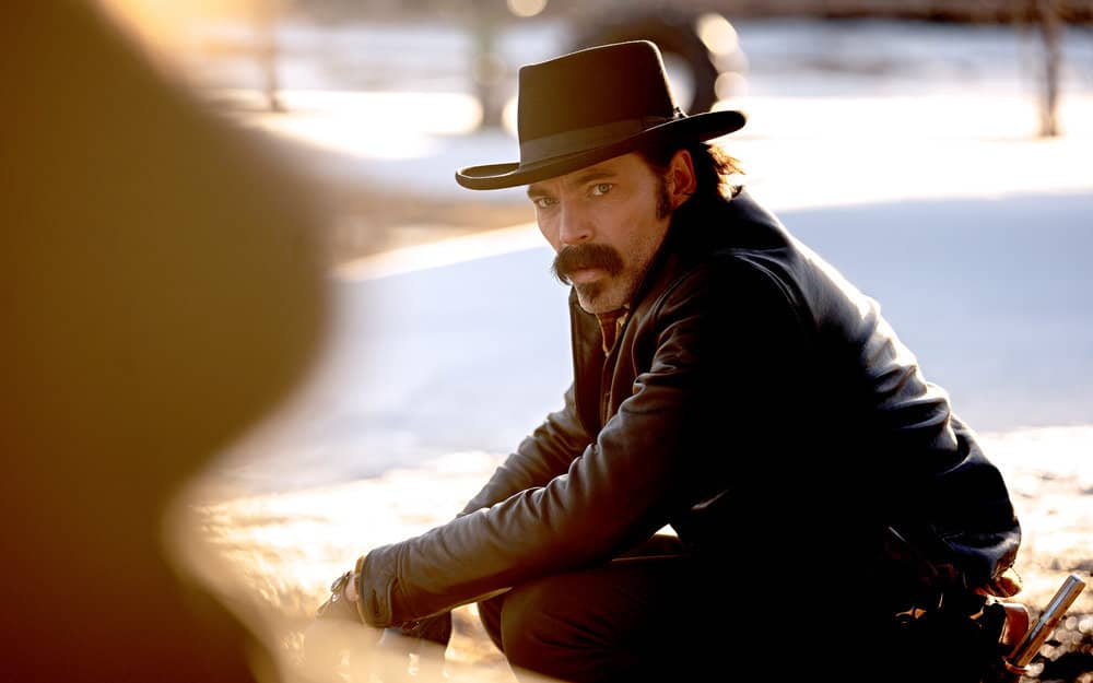 """WYNONNA EARP -- """"Holy War: Part 1"""" Episode 405 -- Pictured: Tim Rozon as Doc Holliday -- (Photo by: Michelle Faye/Wynonna Earp Productions, Inc./SYFY)"""