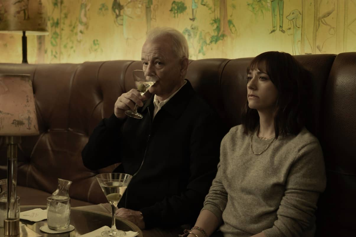"Bill Murray and Rashida Jones in ""On The Rocks,"" premiering this fall on Apple TV+."