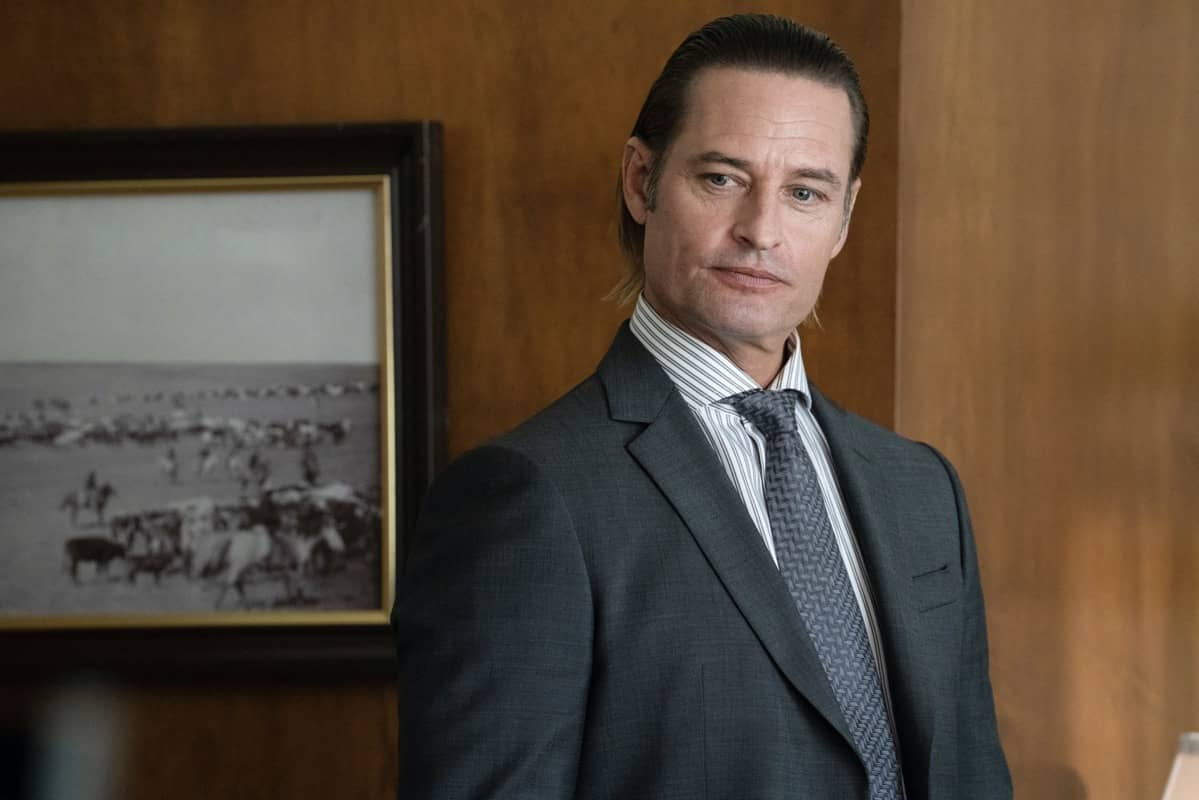 """Josh Holloway as Roarke Morris. The Season Three Finale of Yellowstone - """"The World is Purple"""" Premieres August 23rd at 9 P.M. ET/PT on Paramount Network."""