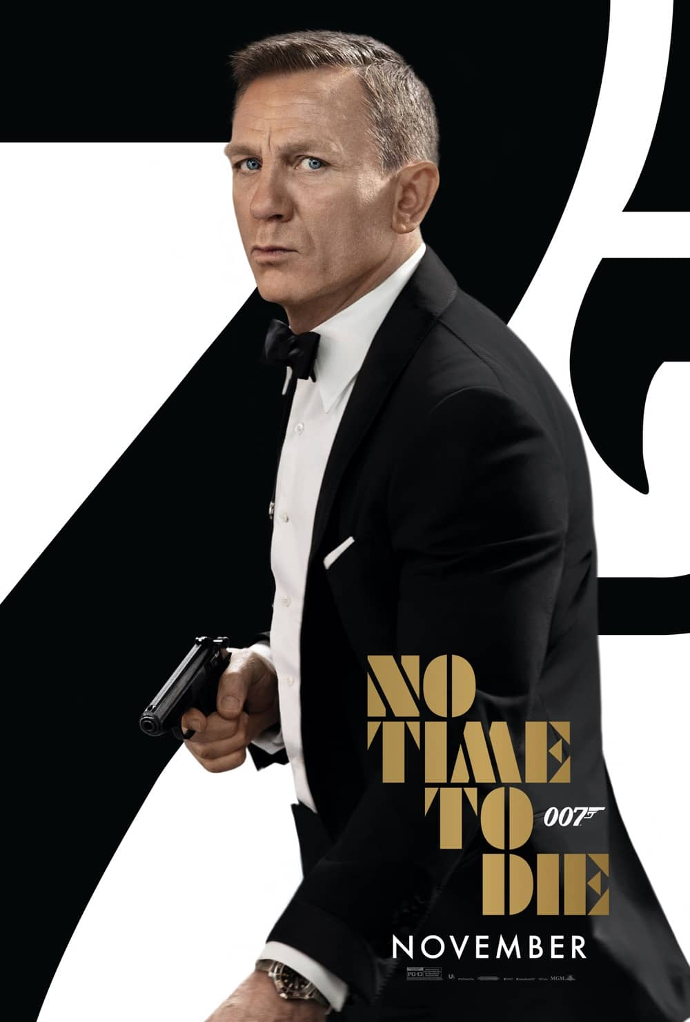 New Bond No Time To Die Poster Bond 25 Daniel Craig