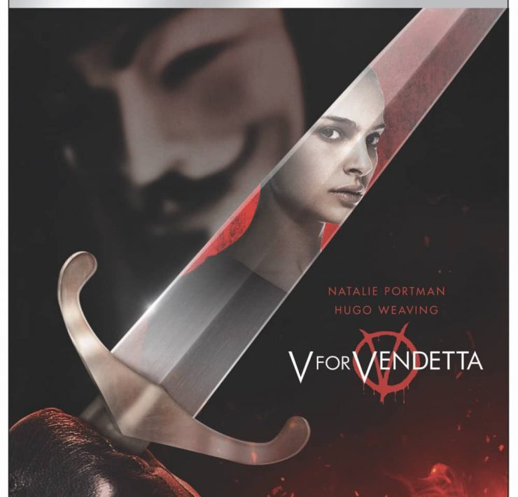 V FOR VENDETTA 4K Box Cover Artwork