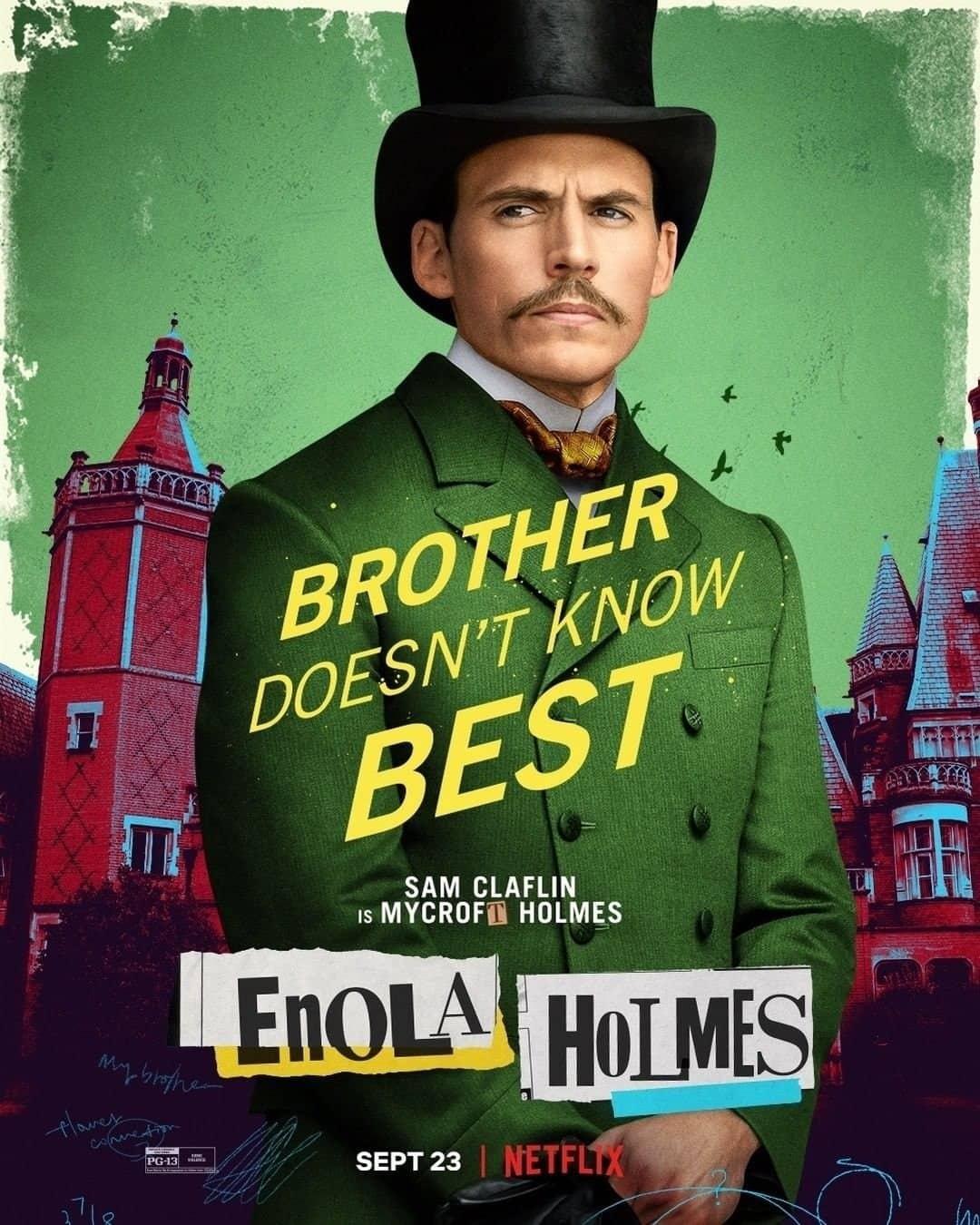 Sam Claflin Enola Holmes Character Poster