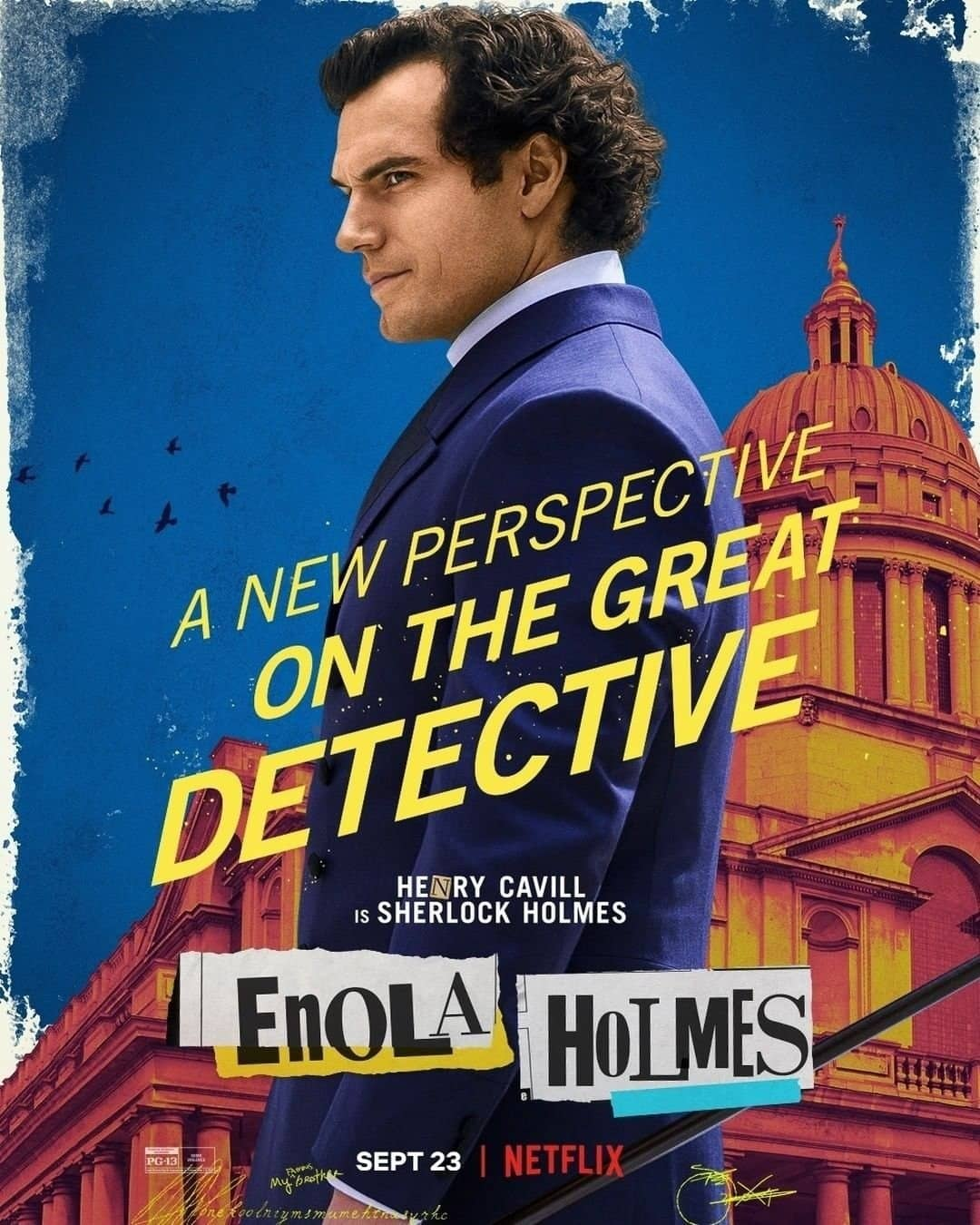 Henry Cavill Enola Holmes Character Poster