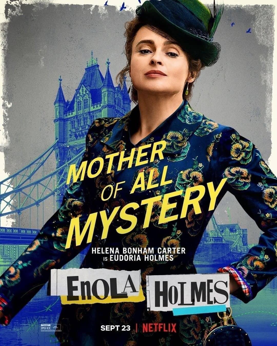 Helena Bonham Carter Enola Holmes Character Poster