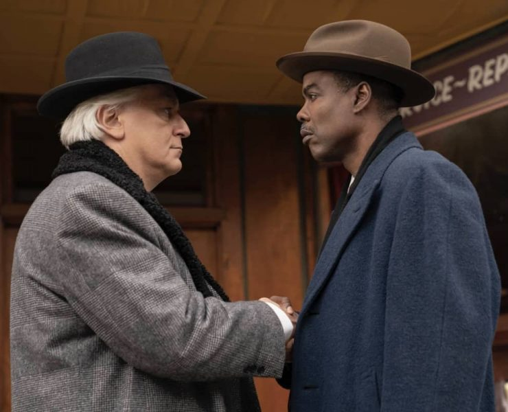 "FARGO -- ""Welcome to the Alternate Economy"" - Year 4, Episode 1 (Airs September 27) Pictured: Tommaso Ragno as Donatello Fadda, Chris Rock as Loy Cannon. CR: Elizabeth Morris/FX"