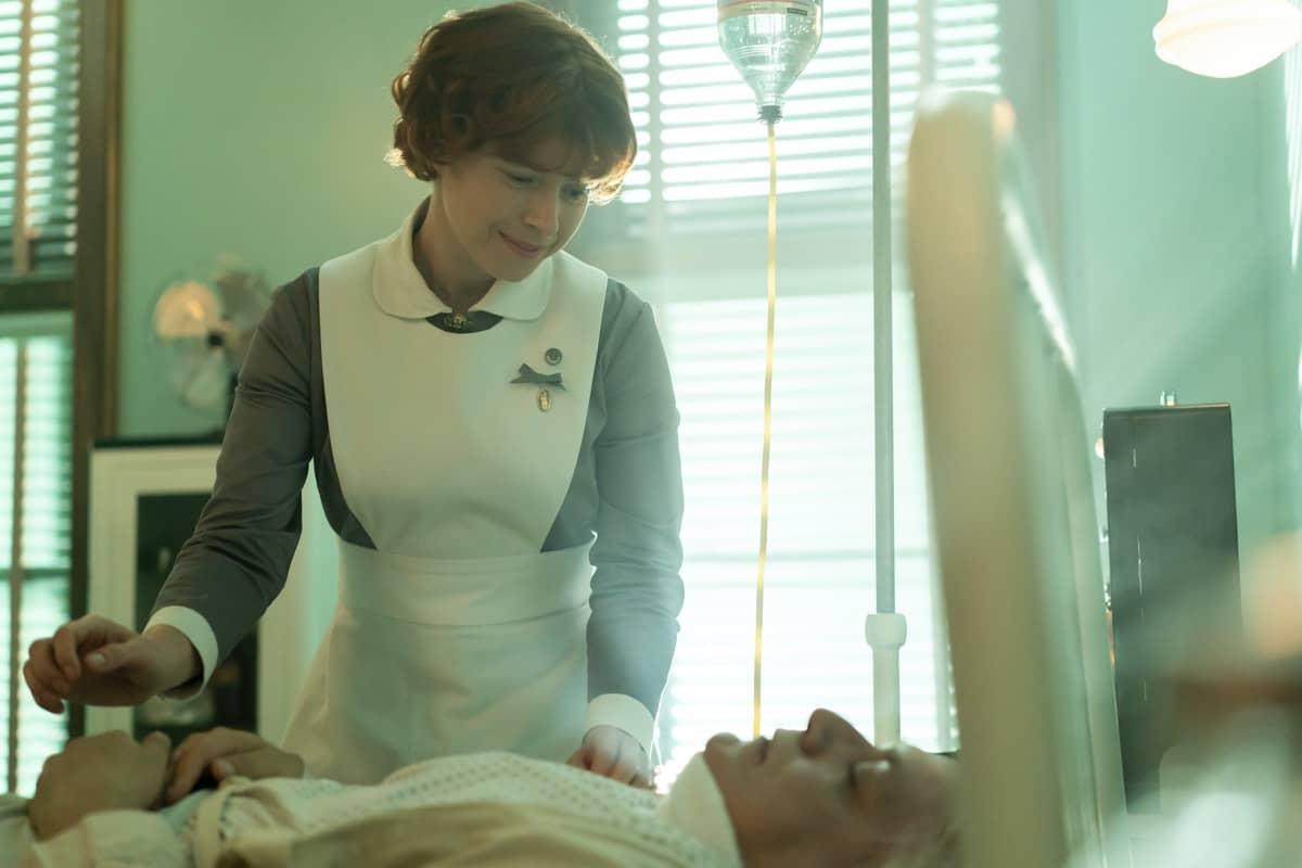"FARGO -- ""Welcome to the Alternate Economy"" - Year 4, Episode 1 (Airs September 27) Pictured: Jessie Buckley as Oraetta Mayflower. CR: Elizabeth Morris/FX"