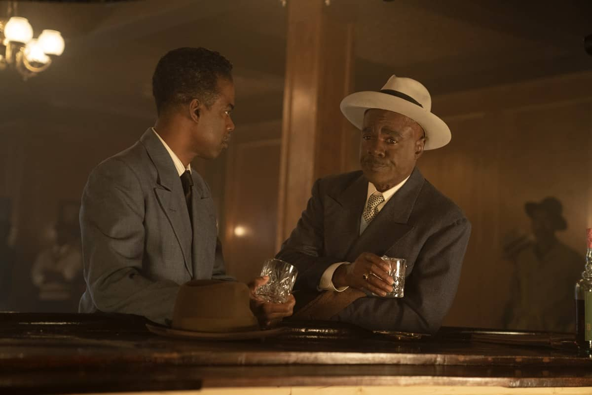 """FARGO -- """"Welcome to the Alternate Economy"""" - Year 4, Episode 1 (Airs September 27) Pictured: Chris Rock as Loy Cannon, Glynn Turman as Doctor Senator. CR: Elizabeth Morris/FX"""