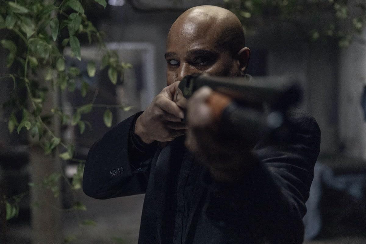Seth Gilliam as Father Gabriel Stokes- The Walking Dead _ Season 10, Episode 16 - Photo Credit: Jackson Lee Davis/AMC