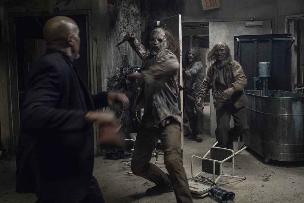 Seth Gilliam as Father Gabriel Stokes - The Walking Dead _ Season 10, Episode 16 - Photo Credit: Jackson Lee Davis/AMC