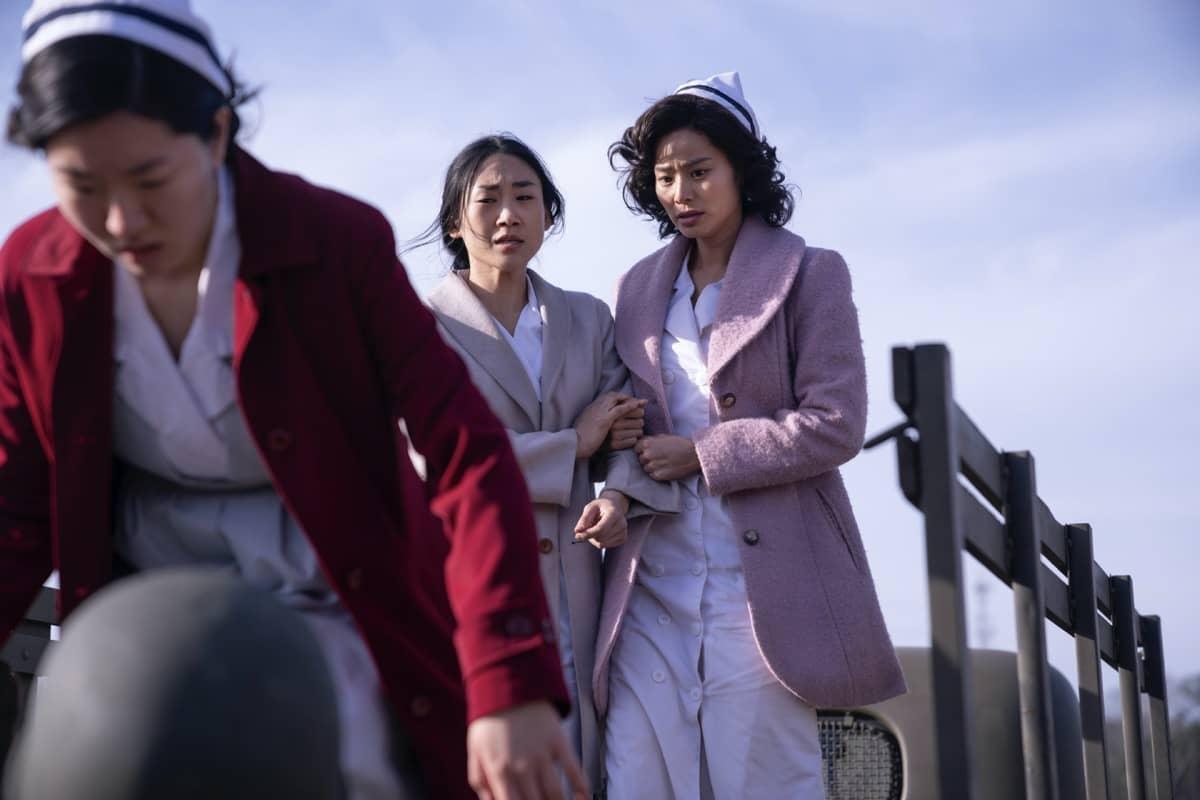 Prisca Kim, Jamie Chung Lovecraft Country Season 1 - Episode 6 Photograph by Eli Joshua Ade/HBO