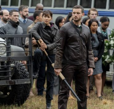 Annet Mahendru as Huck, Nico Tortorella as Felix, Aliyah Royale as Iris - The Walking Dead: World Beyond _ Season 1, Episode 1 - Photo Credit: Zach Dilgard/AMC