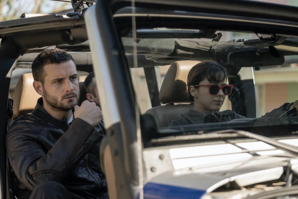 Annet Mahendru as Huck, Nico Tortorella as Felix - The Walking Dead: World Beyond _ Season 1, Episode 1 - Photo Credit: Zach Dilgard/AMC