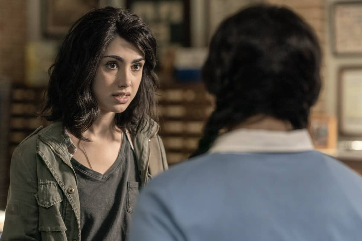 Aliyah Royale as Iris, Alexa Mansour as Hope - The Walking Dead: World Beyond _ Season 1, Episode 1 - Photo Credit: Zach Dilgard/AMC