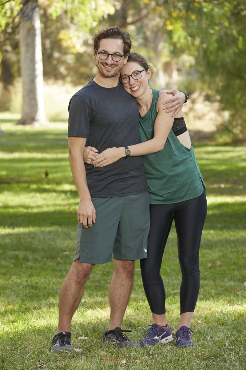 Dating couple from Somerville, Mass., Leo Brown (L) and Alana Folsom (R), compete on the 32nd season of THE AMAZING RACE which will premiere on Wednesday, October 14 (9:00-10:00 PM, ET/PT). Photo: Sonja Flemming/CBS ©2018 CBS Broadcasting, Inc. All Rights Reserved