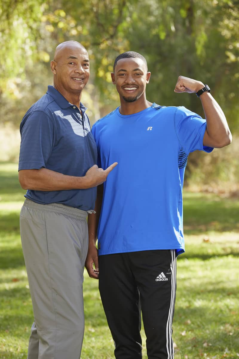Father and Son from Louisville, Ky., Jerry Eaves (L) and Frank Eaves (R), compete on the 32nd season of THE AMAZING RACE which will premiere on Wednesday, October 14 (9:00-10:00 PM, ET/PT). Photo: Sonja Flemming/CBS ©2018 CBS Broadcasting, Inc. All Rights Reserved