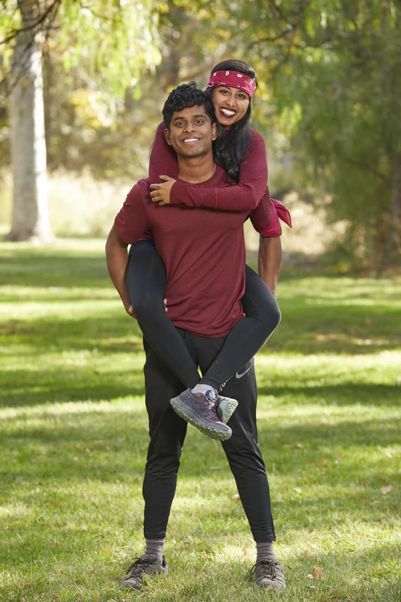Siblings from Fremont and Berkeley, Calif., Eswar Dhinakaran (L) and Aparna Dhinakaran (R), compete on the 32nd season of THE AMAZING RACE which will premiere on Wednesday, October 14 (9:00-10:00 PM, ET/PT). Photo: Sonja Flemming/CBS 2018 CBS Broadcasting, Inc. All Rights Reserved