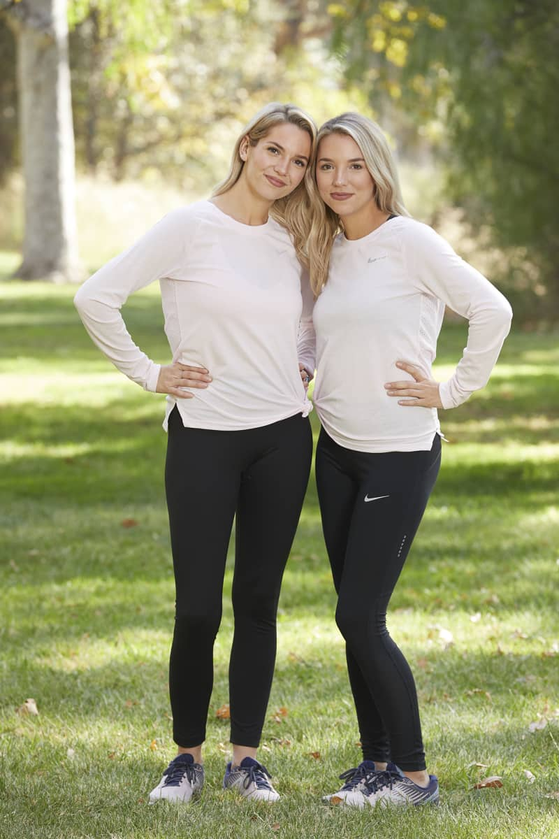 Sisters from Bluffington, S.C. Kaylynn (L) and Haley Williams (R), compete on the 32nd season of THE AMAZING RACE which will premiere on Wednesday, October 14 (9:00-10:00 PM, ET/PT). Photo: Sonja Flemming/CBS ©2018 CBS Broadcasting, Inc. All Rights Reserved
