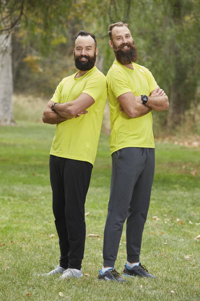 Pro Volleyball Brothers from Honolulu, Hawaii, Maddison McKibbin (L) and Riley McKibbin (R), compete on the 32nd season of THE AMAZING RACE which will premiere on Wednesday, October 14 (9:00-10:00 PM, ET/PT). Photo: Sonja Flemming/CBS ©2018 CBS Broadcasting, Inc. All Rights Reserved