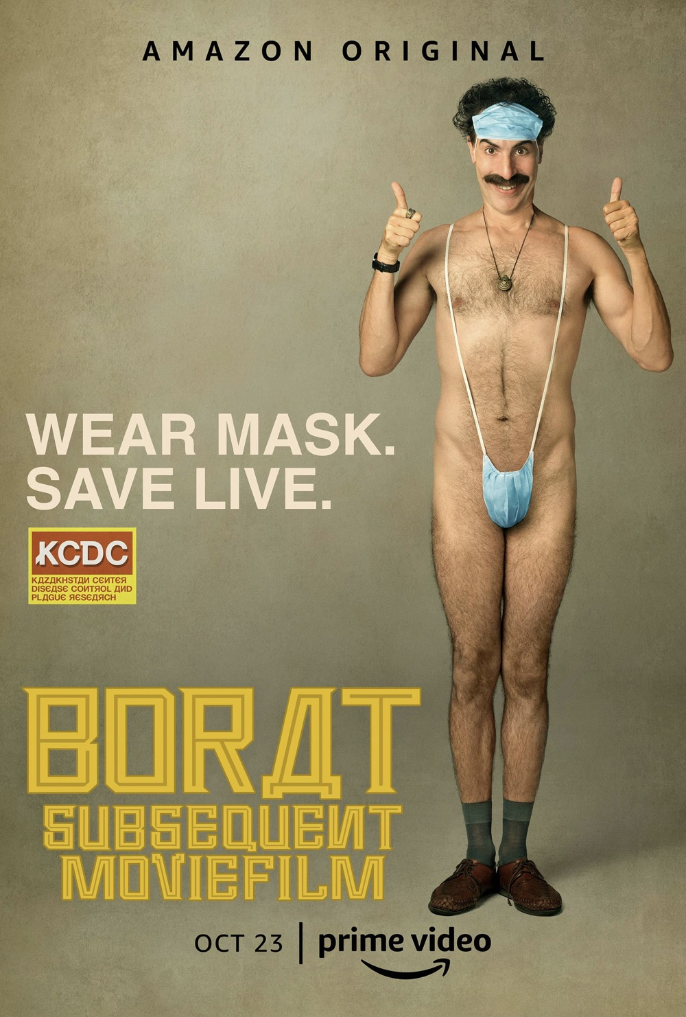 Borat Subsequent Moviefilm Movie Poster Sacha Baron Cohen